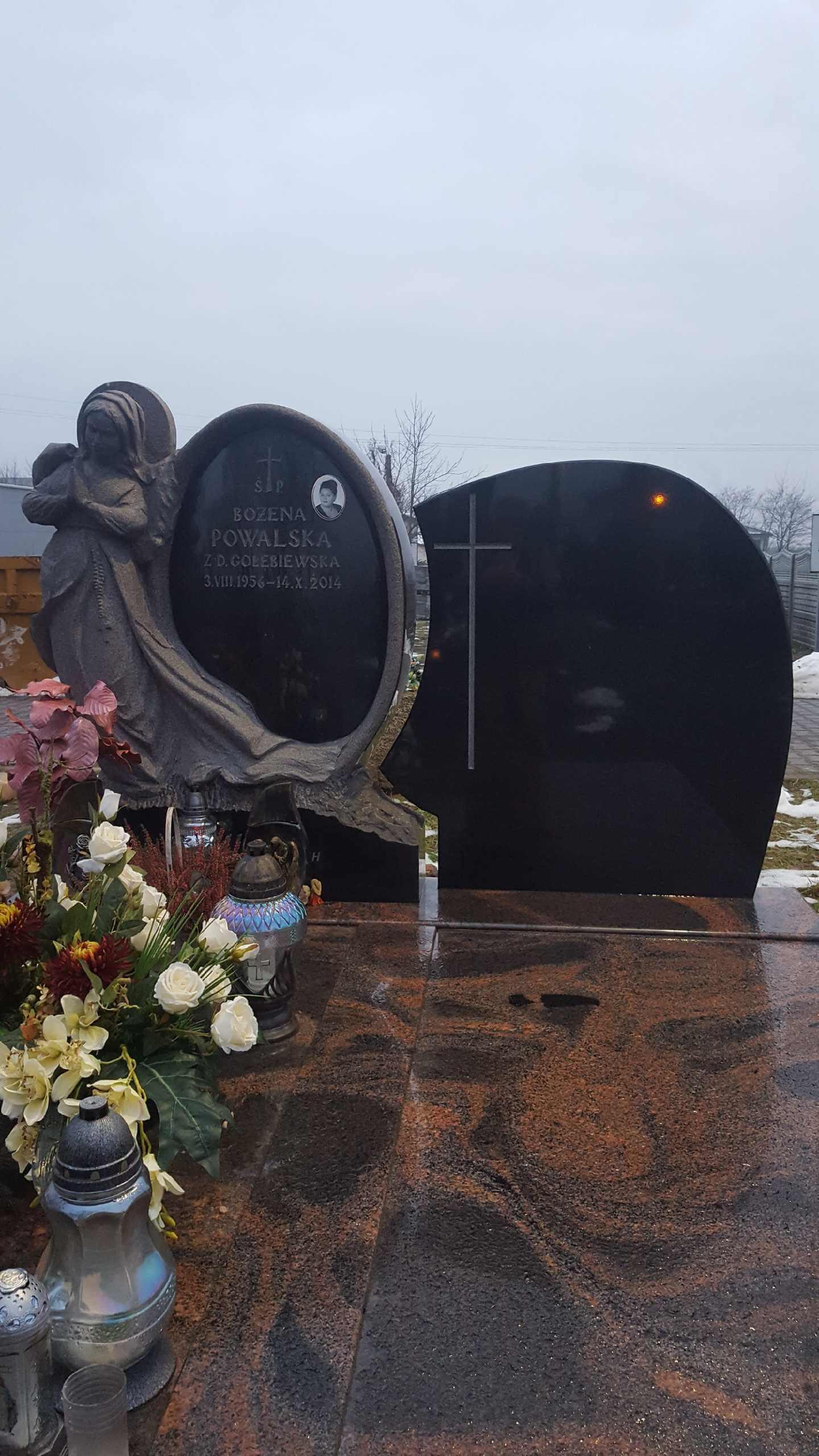 Nagrobki granitowe Cmentarz Północny