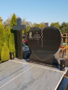 pomnik granitowy podwójny Łomianki
