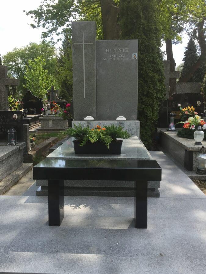 nagrobek granit szary warszawa