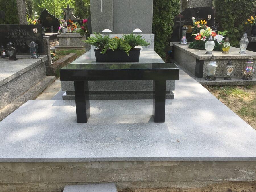 nagrobek granit szary