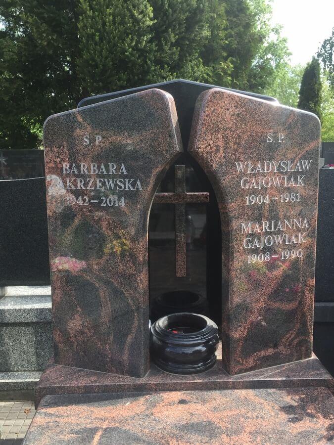 nowoczesne nagrobki granitowe warszawa