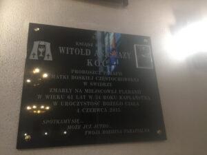 tablica pamiątkowa granit warszawa