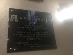 tablica pamiątkowa granitowa
