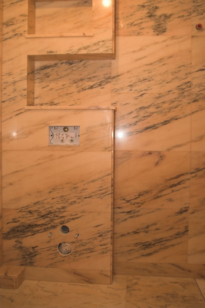 marmur w łazience rosa portogallo warszawa